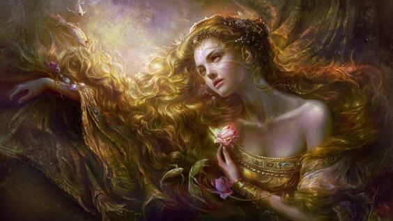 В волосах Женщины магия