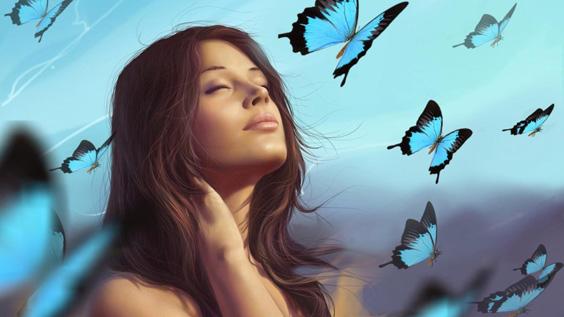 Душа человека подобна бабочке